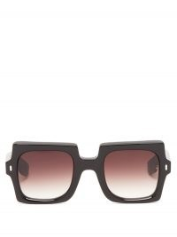 JACQUES MARIE MAGE Squeeze square acetate sunglasses / retro sunnies