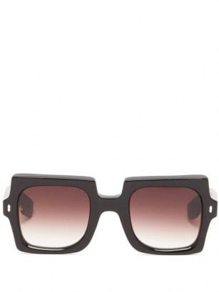 JACQUES MARIE MAGE Squeeze square acetate sunglasses / retro sunnies - flipped