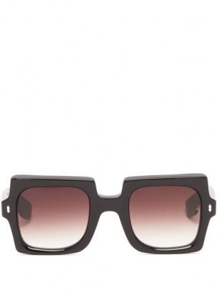 JACQUES MARIE MAGE Squeeze square acetate sunglasses / retro sunnies