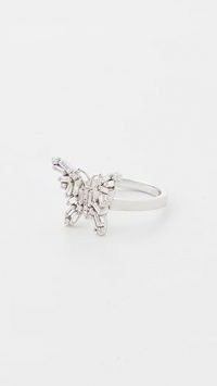 Suzanne Kalan 18k White Gold Fireworks Small Butterfly Ring – luxe diamond rings – butterflies