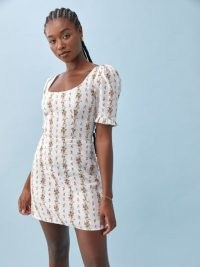 REFORMATION Temecula Linen Dress / floral dresses