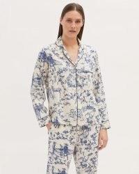 JIGSAW TOILE DE JOUY PYJAMA SHIRT / printed pyjamas / andimal and floral print PJs