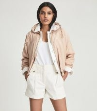 REISS TOMY LIGHTWEIGHT BOMBER JACKET PINK ~ luxe casual jackets
