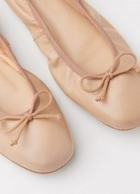 L.K. Bennett TRILLY NUDE LEATHER BALLERINA PUMPS | luxe ballerinas