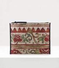 Vivienne Westwood ELENA POUCH BEIGE | floral clutch bags