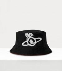 Vivienne Westwood SONNET BUCKET HAT BLACK – designer hats