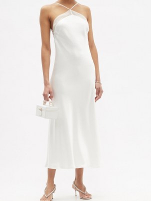 GALVAN Florence halterneck satin dress ~ luxe slip dresses - flipped