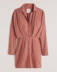 Abercrombie & Fitch Linen Shirt Dress | classic collar | slim-fitting shirt dress