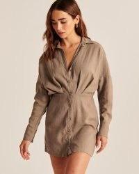 Abercrombie & Fitch Linen Shirt Dress