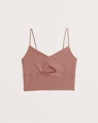 Abercrombie & Fitch Seamless Cutout Cami | cutout detail at chest and v-neckline | slim-fitting seamless cami