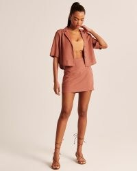 Abercrombie & Fitch Short-Sleeve Linen-Blend Button-Up Shirt