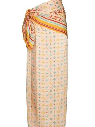Y/Project high-rise wraparound skirt / multi print silk skirts - flipped
