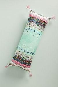 Anthropologie Embroidered Soumya Cushion ~ tasseled oblong shaped cusions ~ homeware ~ soft furnishings
