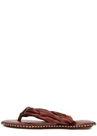 ACNE STUDIOS Bema chesnut leather flip flops