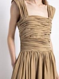 Altuzarra Charley floor-length dress – cotton sleevless ruched-bodice maxi dresses