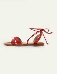 Boden Amelie Sandals | red strappy summer flats