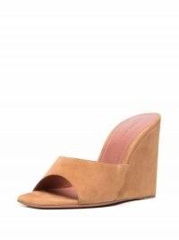 Amina Muaddi Lupita wedge heel sandals ~ peep toe wedges