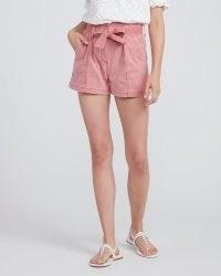 PAIGE Anessa Short Vintage Soft Rose ~ pink tie waist shorts
