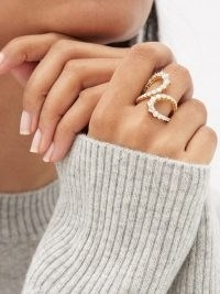 MELISSA KAYE Aria Jane diamond & 18kt gold ring ~ sculptural statement rings ~ luxe jewellery