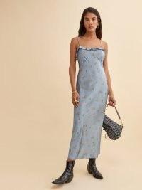 Reformation Aribella Dress | floral frill trim slip dresses
