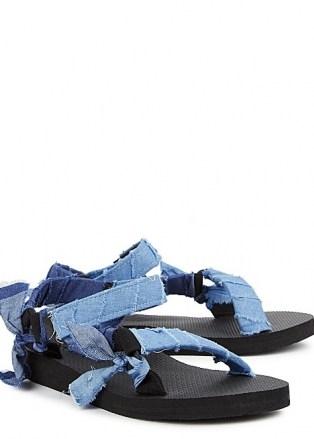 ARIZONA LOVE Trekky blue denim-trimmed sandals - flipped