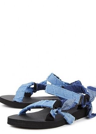 ARIZONA LOVE Trekky blue denim-trimmed sandals