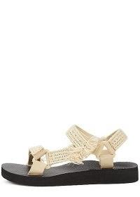 ARIZONA LOVE Trekky sand raffia-trimmed sandals