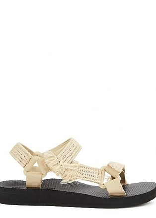 ARIZONA LOVE Trekky sand raffia-trimmed sandals - flipped