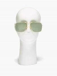 LINDA FARROW Asher aviator 22kt gold-plated titanium sunglasses | women's large square shaped aviators