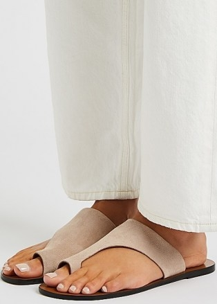 ATP ATELIER Rosa blush suede sandals - flipped