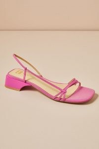 E8 by Miista Rhonda Sandals Pink ~ strappy square-toe low block-heel sandal