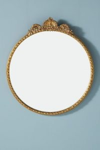 ANTHROPOLOGIE Gleaming Primrose Round Mirror ~ Ornate French style mirrors