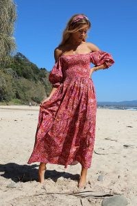 Kachel Nicole Maxi Dress Pink Combo