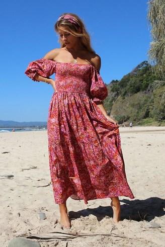 Kachel Nicole Maxi Dress Pink Combo - flipped