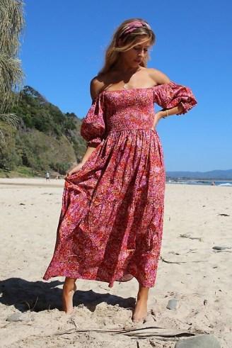 Kachel Nicole Maxi Dress Pink Combo