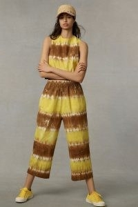 WHIT TWO Striped Tie-Dye Co-Ord / crop top and trouser summer fashion sets