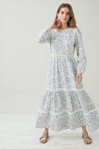 Lily & Lionel Lara Broderie Maxi Dress – long sleeve floral print breezy summer dresses