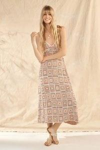 Cecilia Prado Crochet Maxi Dress ~ vintage style skinny strap knitted dresses