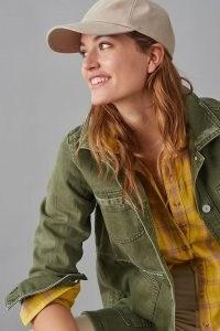 Pilcro The Fielder Denim Shirt Jacket ~ casual green jackets