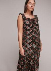 Whistles BLOCK PRINT MIDI DRESS – sustainable summer dresses