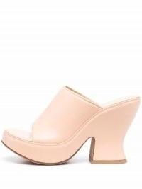 Bottega Veneta Stack leather mules / chunky peach mule