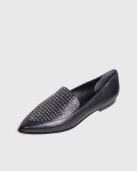 PAIGE Brea Loafer in Black Leather | pointed toe loafers
