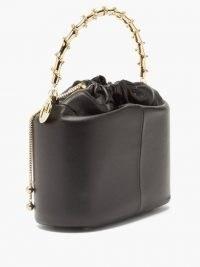 ROSANTICA Brick Jungla small black leather bag