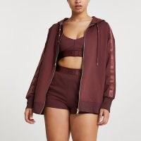 RIVER ISLAND Brown Intimates zip up hoodie ~ hooded tops ~ women's hoodies