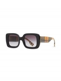Burberry Eyewear square-frame Vintage Check-detail sunglasses | thick framed retro sunnies