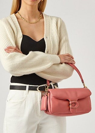 COACH Pillow Tabby 26 pink leather shoulder bag – oblong top handle bags - flipped