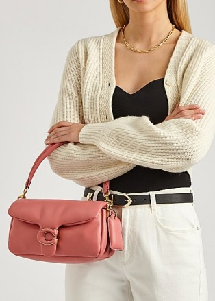COACH Pillow Tabby 26 pink leather shoulder bag – oblong top handle bags