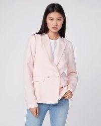 PAIGE Dawson Blazer Pearl Pink ~ women's linen blazers
