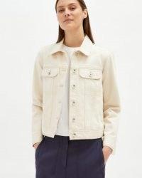 JIGSAW DENIM TRUCKER JACKET ECRU / classic casual jackets