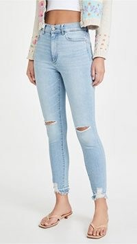 DL1961 Farrow Skinny Jeans Baby Blue Distressed | ripped skinnies
